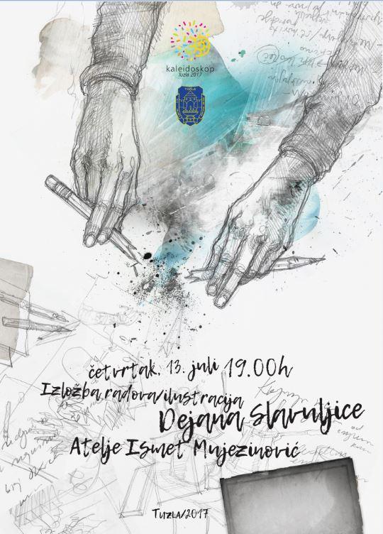 Izložba radova i ilustracija Dejana Slavuljice